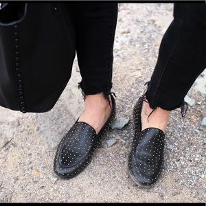 Banana republic studded loafers